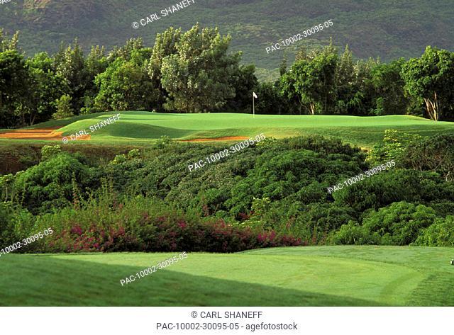 Hawaii, Kauai, Lihue, Kauai Lagoons Resort, Kiele Golf Course, 5th hole