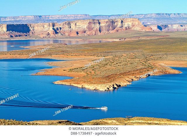 United states, Arizona,Page , lake Powell on the Colorado river