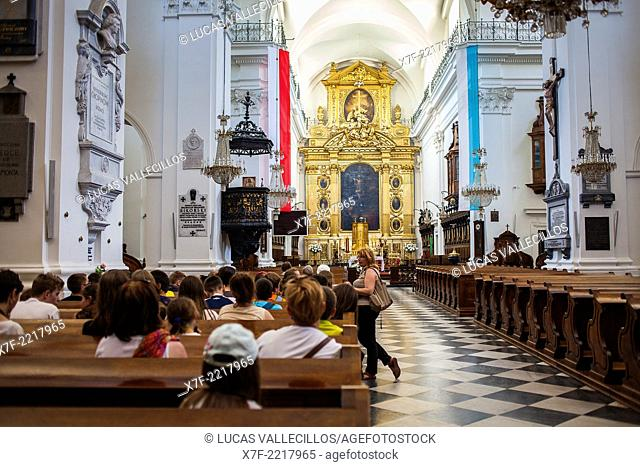 Holy Cross church, here rest the heart of Frederick Chopin, Warsaw, Poland