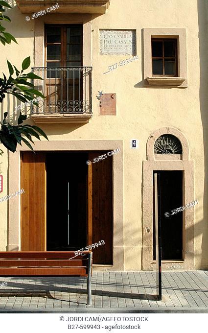 Pau Casals birth house. El Vendrell. Costa Daurada. Baix Penedès. Tarragona province. Catalonia. Spain
