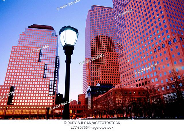World Financial Center in Lower Manhattan. New York City, USA