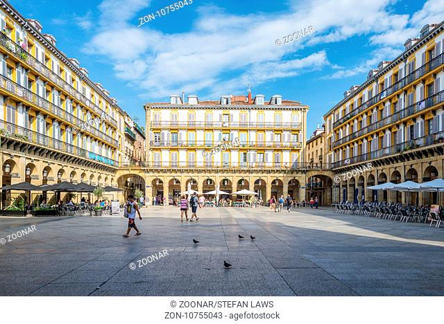 The Constitution square in Donostia San Sebastian