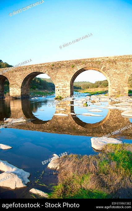 ancient bridge and reflect
