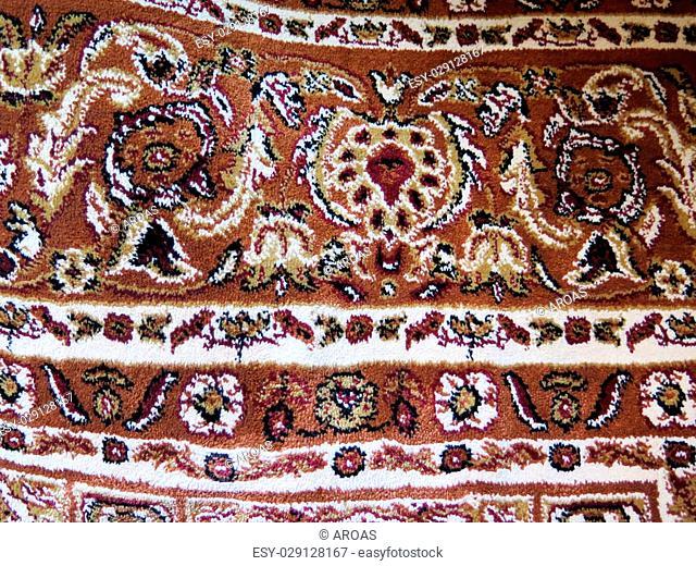 Closeup of Persian carpets