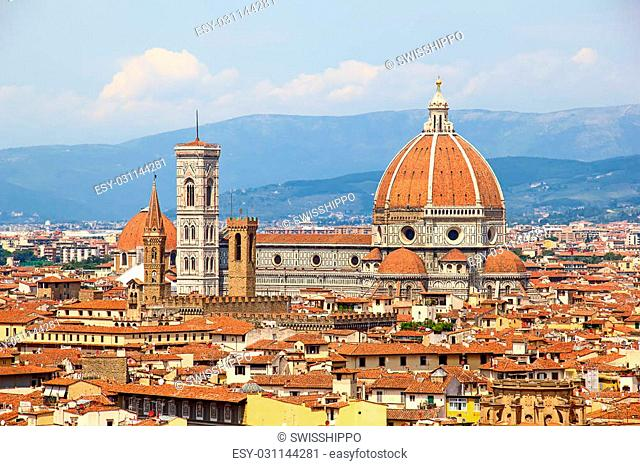 Panoramic view of the Florence, Italy