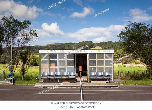 New Zealand, North Island, Coromandel Peninsula, Coromandel Town, Colville, Colville Tennis Club