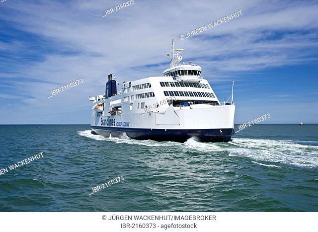 Scandlines ferry, Prins Richard, at the ferry terminal, Puttgarden, Fehmarn Island, Baltic Sea, Schleswig-Holstein, Germany, Europe