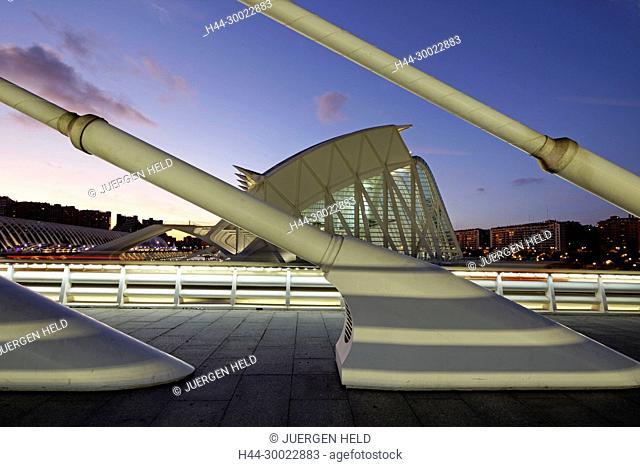 City of sciences and arts by architect Santiago Calatrava, Valencia , Spain