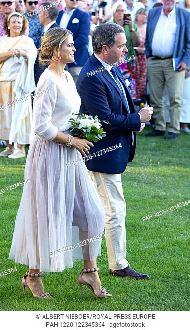 Princess Madeleine and Christopher O?Neill of Sweden at the Borgholm Sports Arena in Borgholm, on July 14, 2019, .to attend the celebration of Crown Princess...