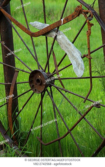 Wagonwheel frame, Riddle Brothers Ranch National Historic District, Donner und Blitzen Wild and Scenic River, Steens Mountain Cooperative Management and...