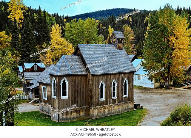 St. Saviour's Anglican Church, Barkerville townsite, Cariboo Region, Britsih Columbia, Canada