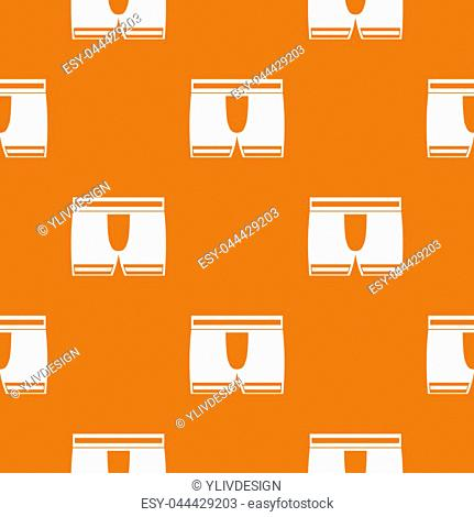 Man boxer briefs pattern repeat seamless in orange color for any design. geometric illustration