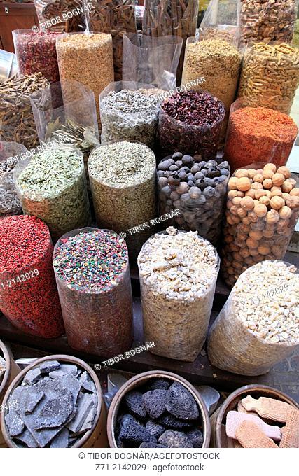 United Arab Emirates, Dubai, Deira, Spice Souq, spices,