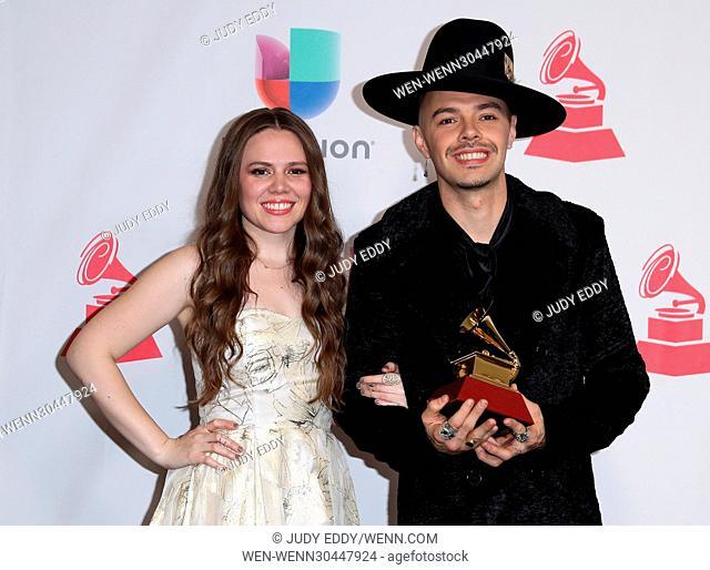 17th Annual Latin Grammy Awards Media Room at T-Mobile Arena Las Vegas Featuring: Jesse & Joy Where: Las Vegas, Nevada, United States When: 17 Nov 2016 Credit:...