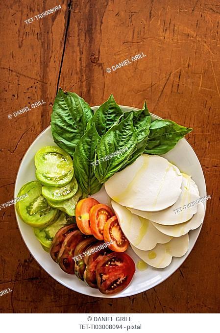 Caprese salad on plate