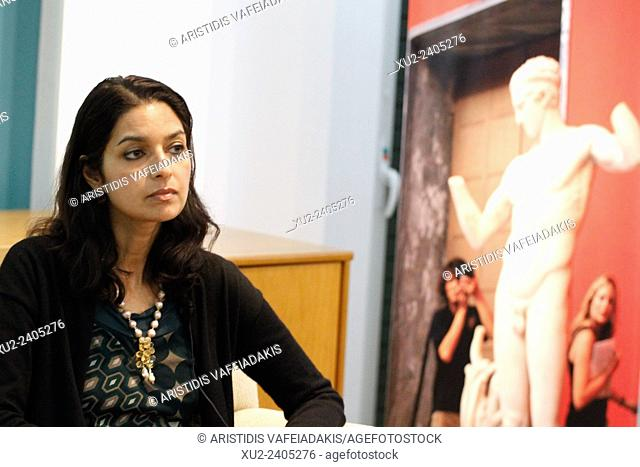 """An Indian American author JHUMPA LAHIRI presents her new book """""""" The Lowland"""""""" in Athens Greece"""