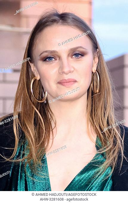 PARIS, FRANCE - April 12 : Actress Sara Forestier attends the 'Diner du Cinema - Madame Figaro' event on April 12, 2019 in Paris, France