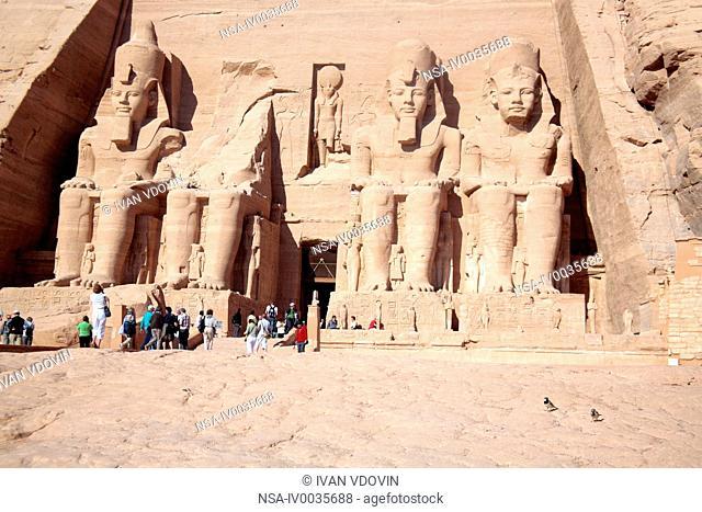 Temple of Ramesses II 13th century BC, Abu Simbel, Abu Simbel, Egypt
