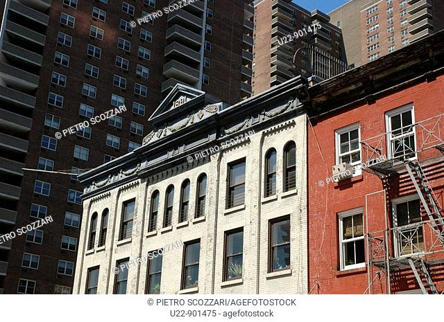 New York City (USA): old buildings in TriBeCa