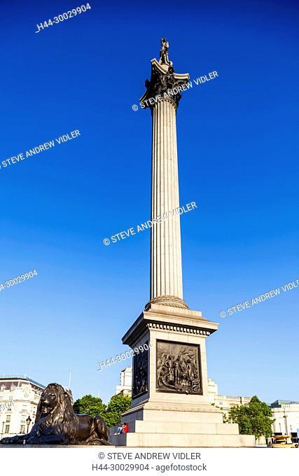England, London, Trafalgar Square, Nelson's Column