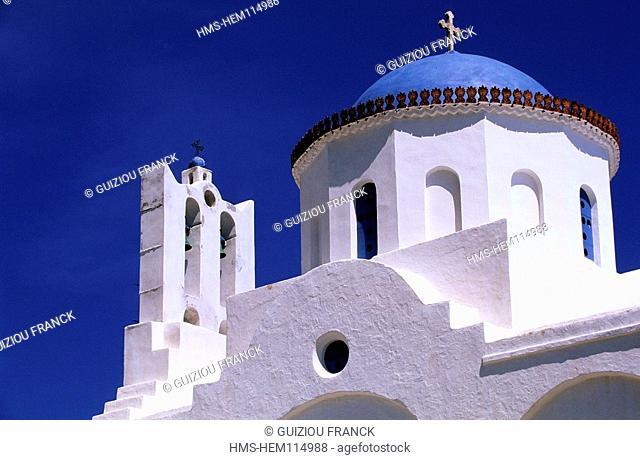 Greece, Cyclades Islands, Sifnos Island, Panagia tis Poulatis monastery