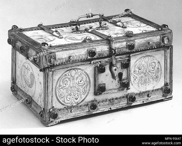 Casket with Painted Roundels. Object Name: Casket; Date: late 12th-early 13th century; Geography: Attributed to Italy, Sicily; Medium: Ivory