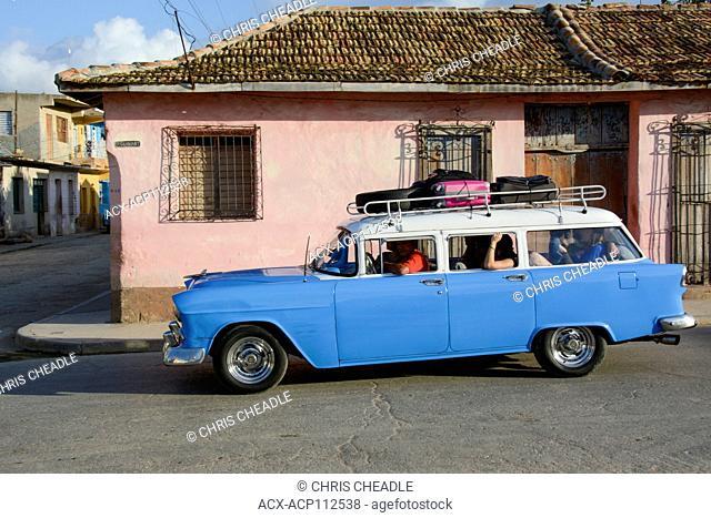 Classic American station wagon, Trinidad, Cuba