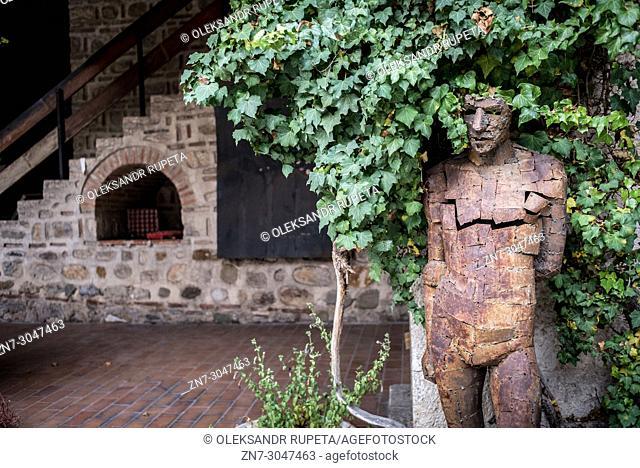 Statues in the courtyard of Museum of the Skopje Old Bazaar, Skopje, Macedonia