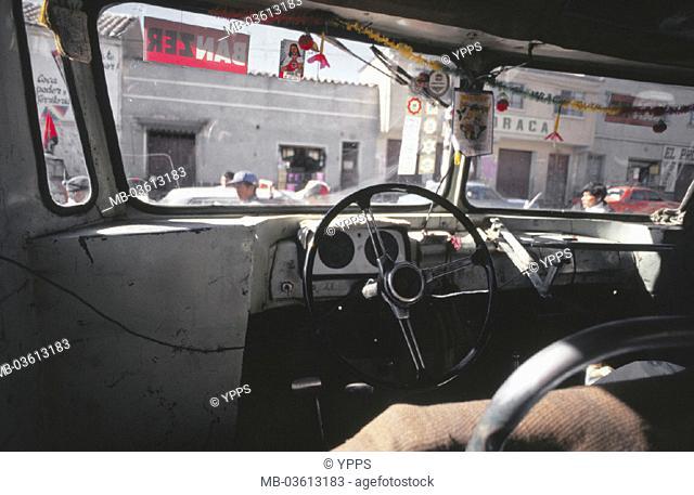 Bolivia, coach, cab