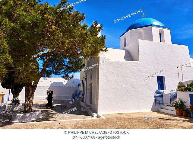 Greece, Cyclades islands, Amorgos, Katapola bay, Langada village
