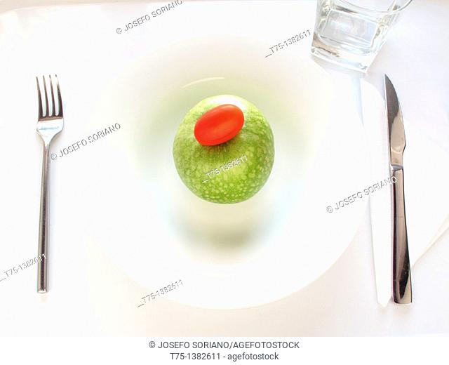 Apple 'Granny Smith' and tomato