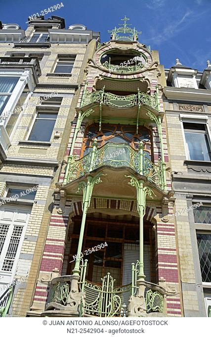 Gustave Strauven's Art Nouveu style Maison Saint-Cyr. Brussels, Belgium, Europe