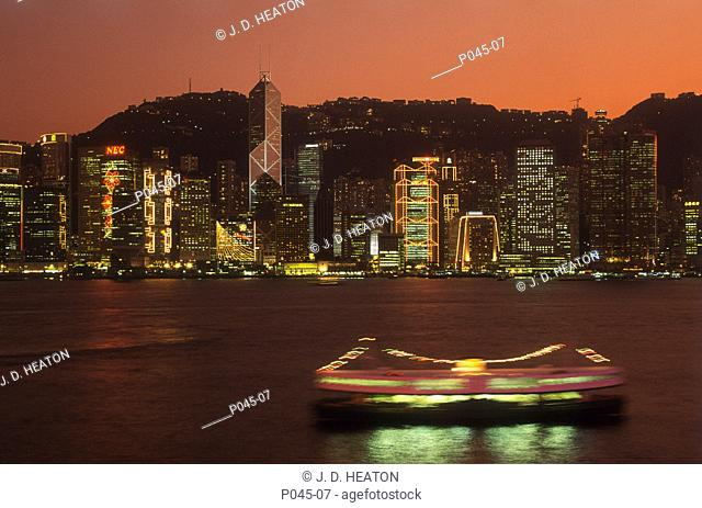 Hong Kong. Central district and harbour