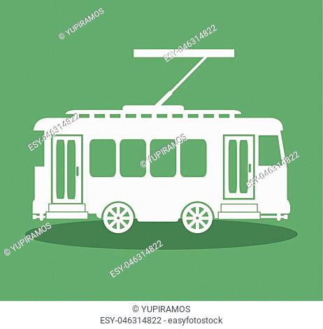 tram transport public icon vector illustration design