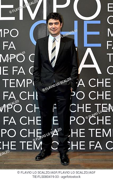 Riccardo Scamarcio during the tv show Che tempo che fa, Milan, ITALY-07-04-2019
