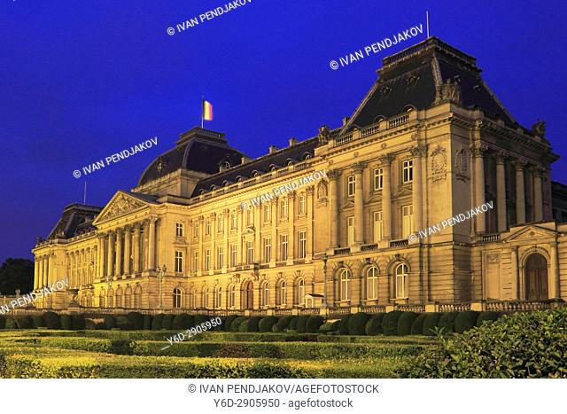 The Royal Palace at Night, Brussels, Belgium