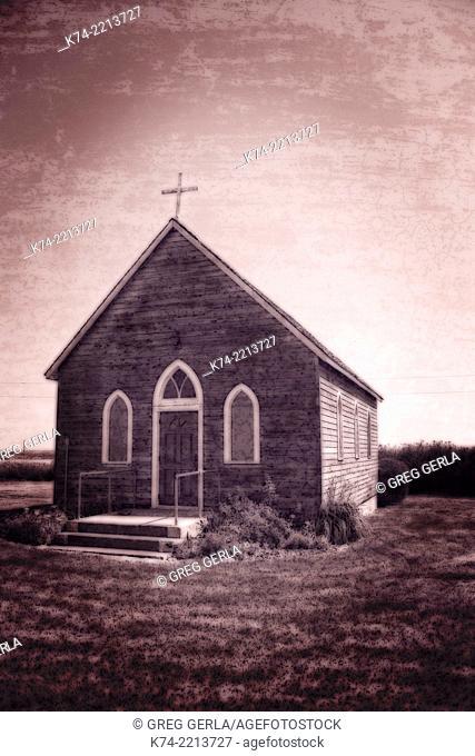 Old fashion church on Alberta Prairie