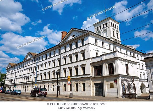 Biala Fabryka, the White Factory, houses textile museum and Piotrkowska, main street, Lodz, central Poland