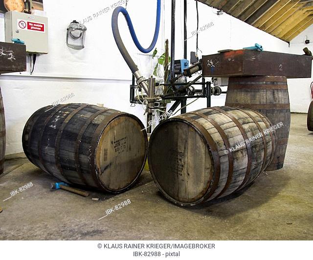 Filling station, Laphroaig distillery, Isle of Islay, Scotland