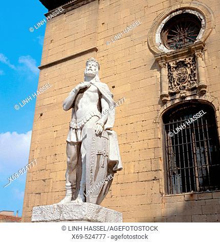 Monument to Alfonso II of Asturias, Oviedo. Asturias, Spain