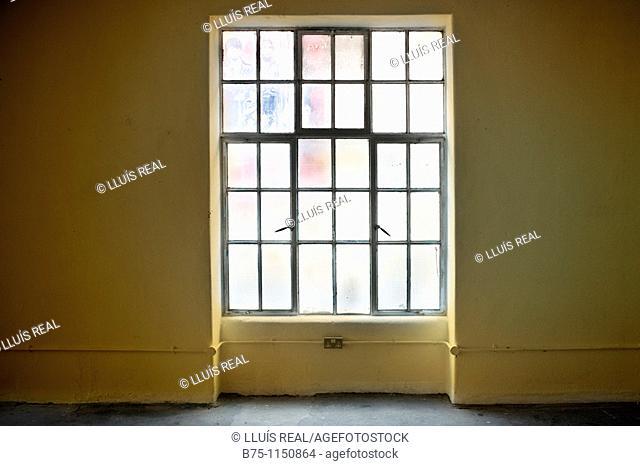 empty building, window