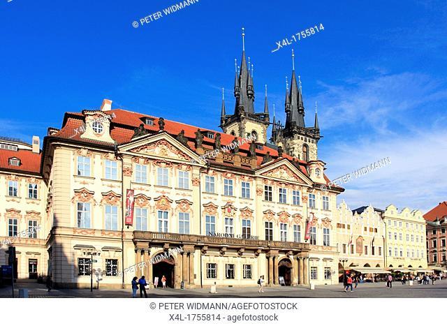 Czech Republic, Prague, Goltz-Kinsky Palace on Old Town Square