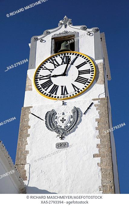 Clock Tower, Church of Santa Maria do Castelo, Tavira, Algarve, Portugal