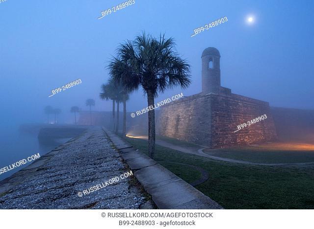 Castillo De San Marcos National Monument Saint Augustine Florida . Usa