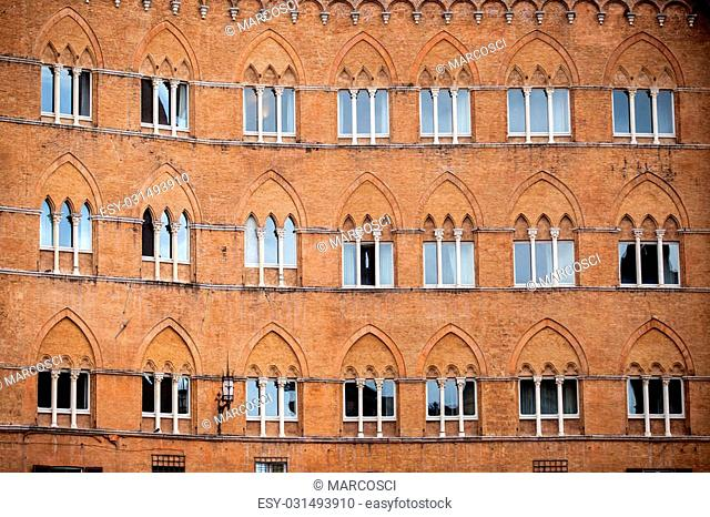 Piazza del Campo in Siena, Tuscany, Italy