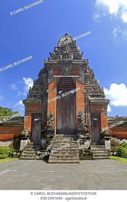 The Paduraksa, the main holy gate to the Holy Temple in Pura Taman Ayun, the royal temple at Mengwi, Badung, Bali, Indonesia