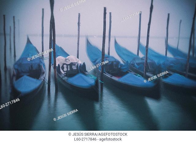 Gondolas in Venice, San Marco, Italy