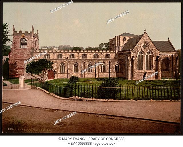 Cathedral, Bangor, Wales. Date between ca. 1890 and ca. 1900