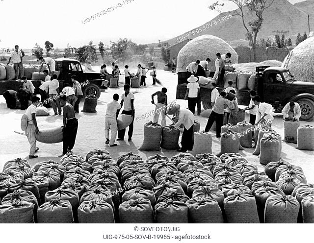 Food distribution commune Stock Photos and Images | age