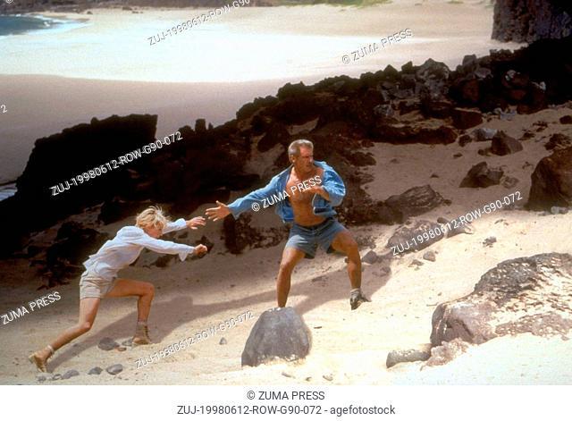 Jun 12, 1998; Kauai, HI, USA; Actor HARRISON FORD stars as Quinn Harris with ANNE HECHE as Robin Monroe in 'Six Days, Seven Nights